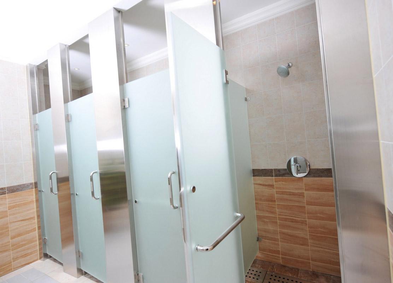 Drzwi szklane do WC