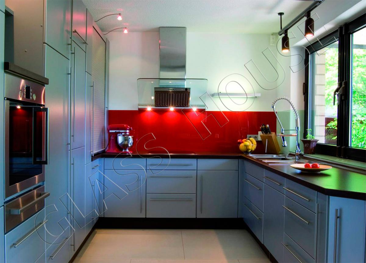 szkło lakierowane w kolorze czerwonym