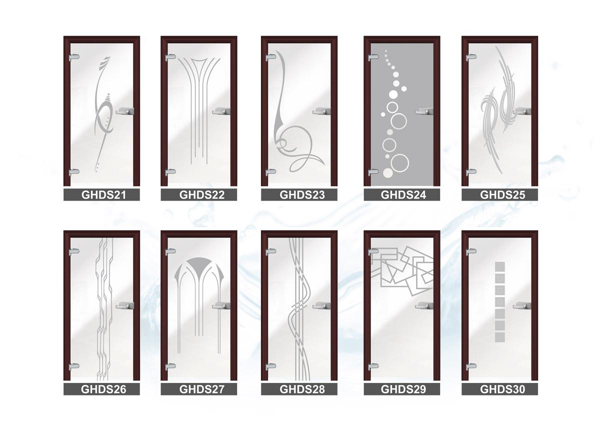 Piaskowanie szkła - wzory
