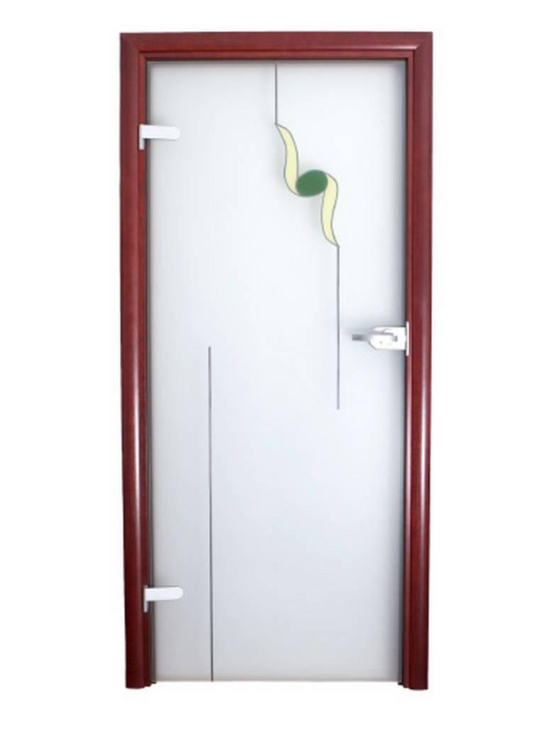 Drzwi dekorowane wzorek