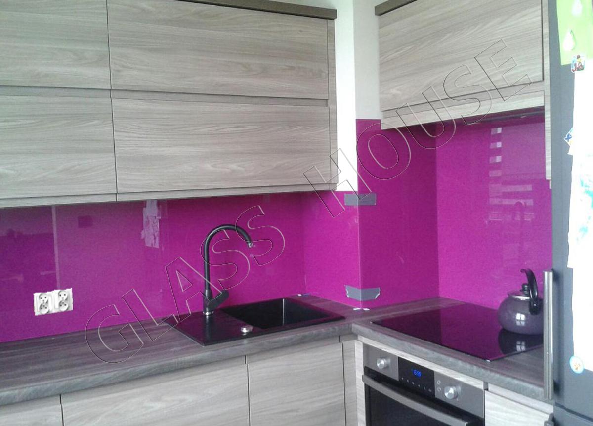 Szkło do kuchni lacobel fioletowy