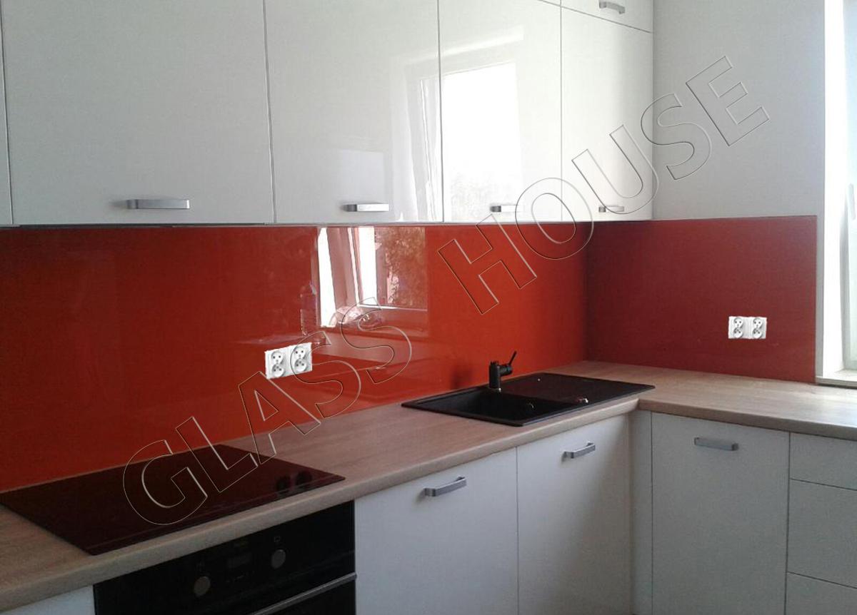 szkło do kuchni lacobel w kolorze rudym