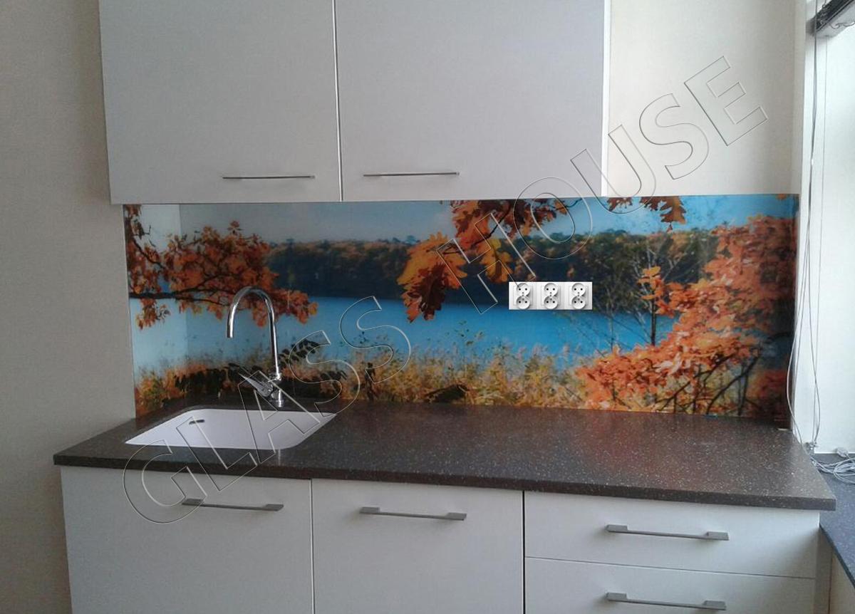Nadruk na szkle liście jesieni