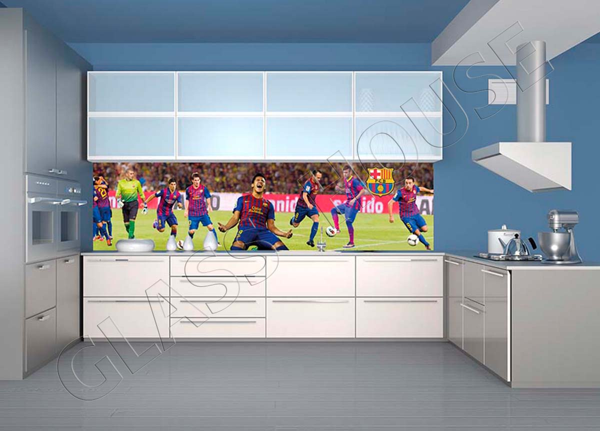 szkło z nadrukiem sport FC Barcelona
